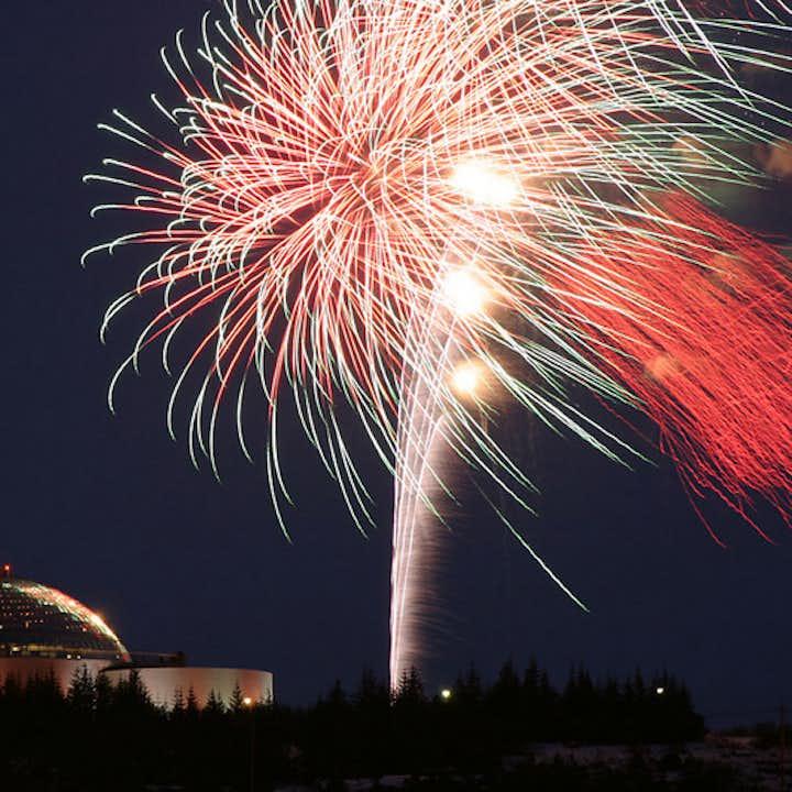 New Years Eve at Perlan landmark building