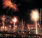 Icelanders celebrate the New Year with fireworks