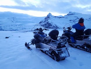 Ice Cave and Glacier Tour on Snowmobile
