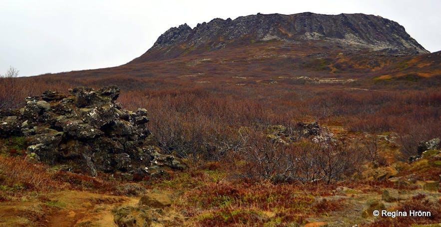 Eldborg火山口位于冰岛西部的斯奈山半岛