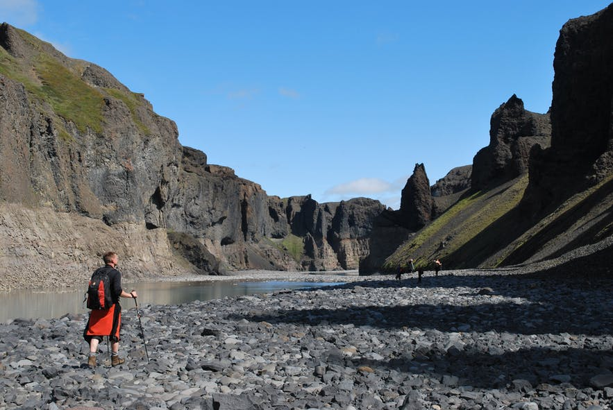 Hafrahvammar is a magnificent canyon in East Iceland.