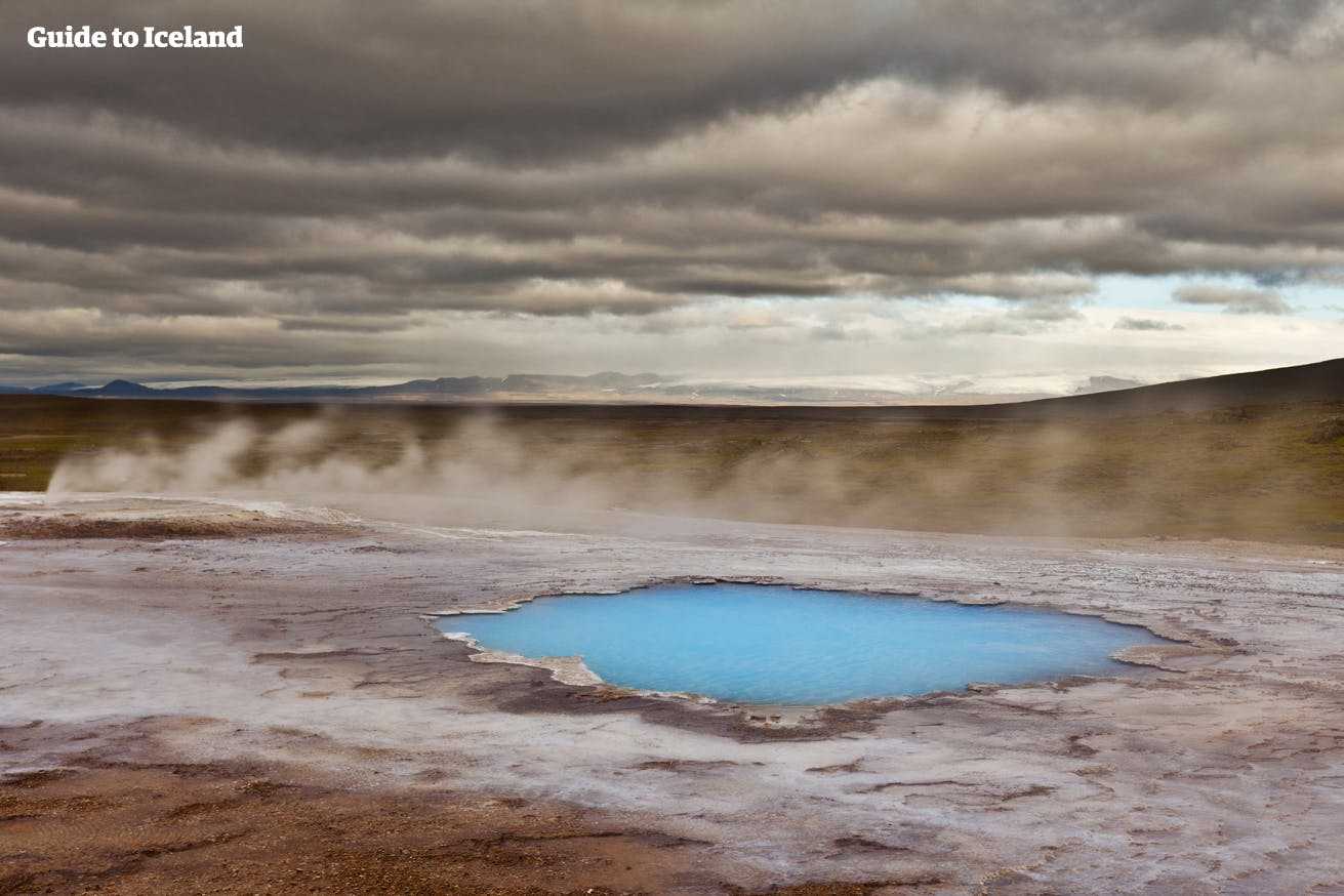 One of many geothermal hot spots in the Highlands of Iceland.