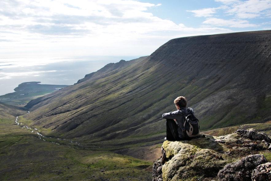 Die Aussicht vom Mt Esja Richtung Reykjavík
