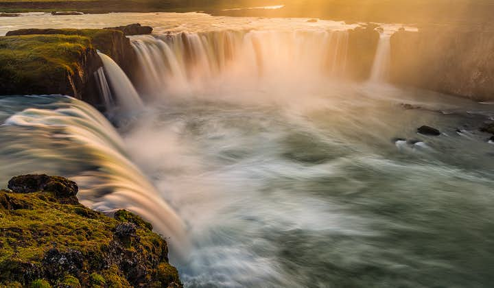 Goðafoss Waterfall in North Iceland—its name means 'the Waterfall of the Gods'.
