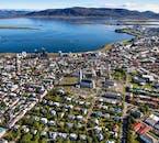 Voir Reykjavík d'en haut en faisant un tour d'hélicoptère en Islande