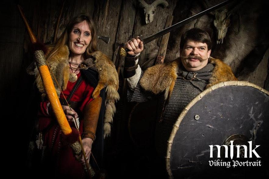 Regína and Jón at Mink Viking portrait