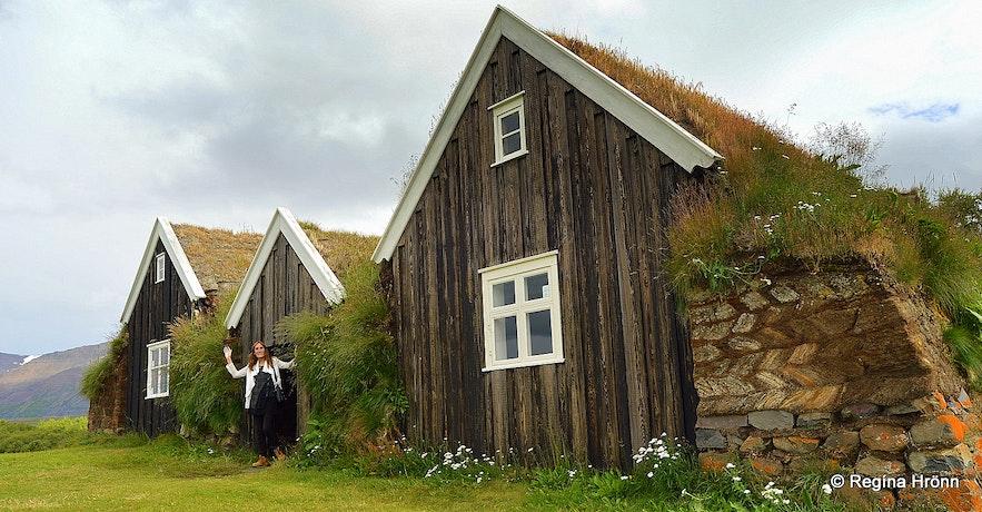 Nýibær turf house in North-Iceland