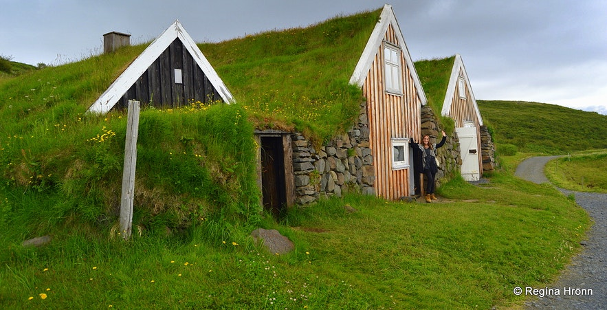 Selið turf house in Skaftafell in South-Iceland