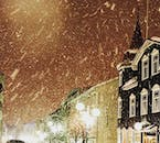 Akureyri town in winter looks like a veritable part of a magical elf town on the North Pole in wintertime.