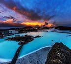 The ever popular Blue Lagoon Spa under a stunning dusky sky