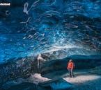 Le grotte di ghiaccio nel Parco Nazionale di Vatnajökull variano in dimensioni e forma e sono in continua evoluzione.