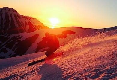 Ski et dameuse sur le mont Mulakolla | Ski dans le Nord de l'Islande