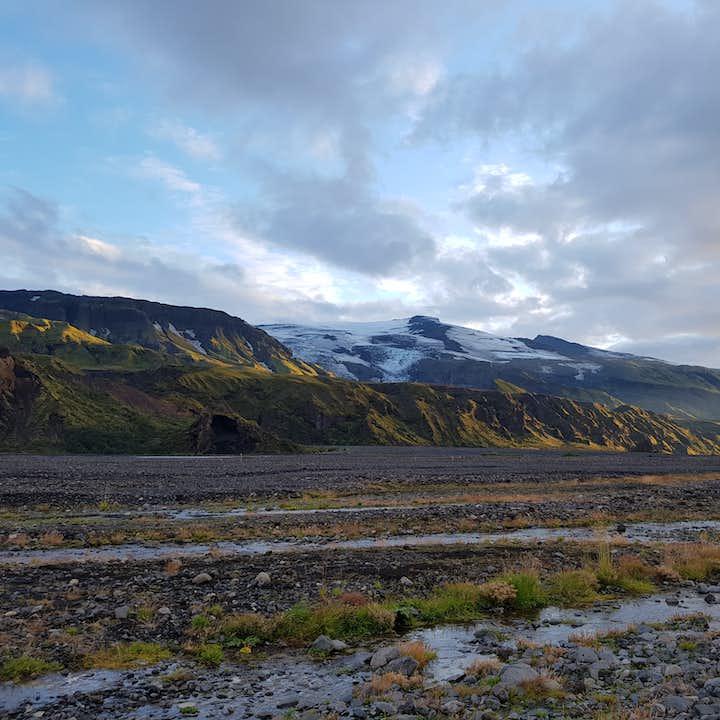 Mighty Eyjafjallajökull seen from Þórsmörk