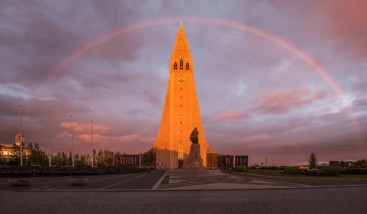 Hallgrímskirkja Church in the city centre of Reykjavík is where your sightseeing tour begins.