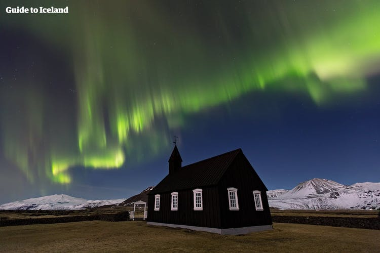 With few settlements, the Snæfellnes Peninsula in winter is a great place to capture the Northern Lights on camera.