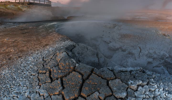 The dream-like mud pots and fumaroles of the Námaskarð geothermal area are stunning to behold.