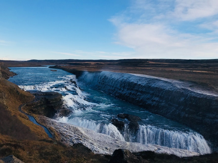 11 月的黃金瀑布 Gullfoss