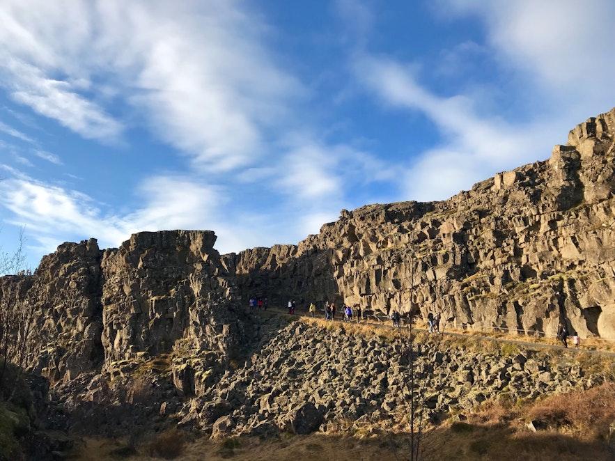 冰島的美洲版塊歐洲版塊