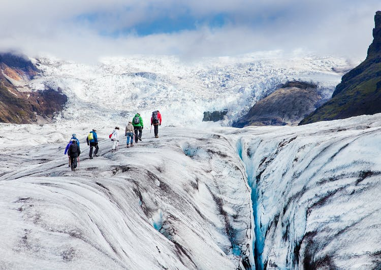 On this two-day tour, you'll get to hike on top of a mighty glacier on Iceland's South Coast