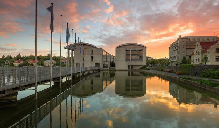 Reykjavík City Hall stands on the banks of Lake Tjörnin in central Reykjavík.