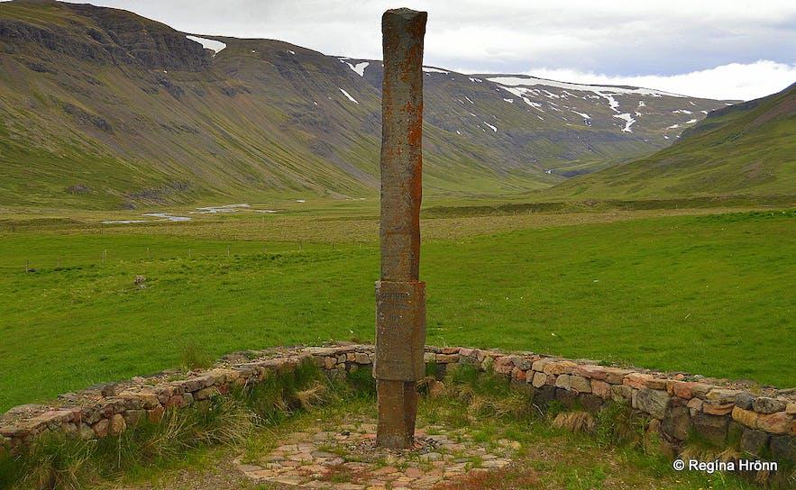 Snorri Sturluson's monument at Hvammur in Dalir