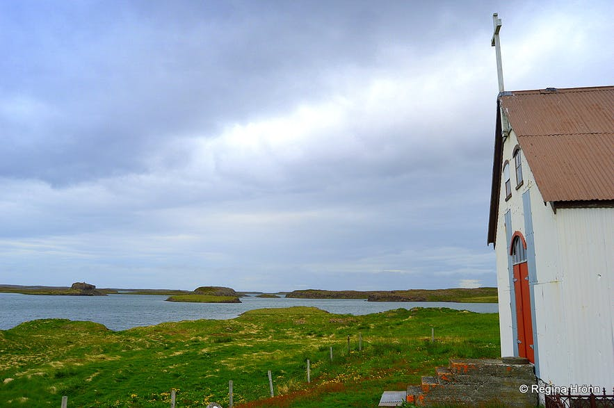 Dagverðarneskirkja church at Dagverðarnes cape West-Iceland