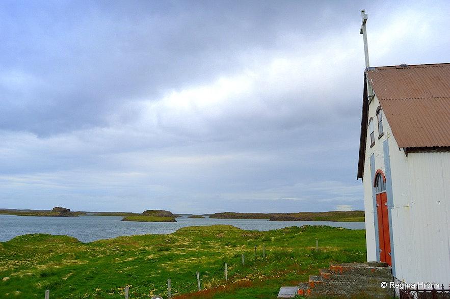 Dagverðarneskirkja church at Dagverðarnes cape West-Iceland