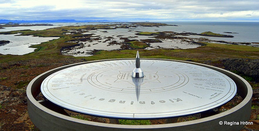 The view-dial at Klofningur West-Iceland