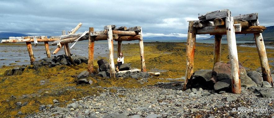 Abandoned mine by the sea at Skarðsströnd West-Iceland
