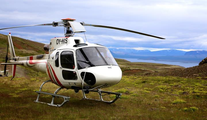 Going on a private helicopter tour in Iceland is a surefire way to enjoy the volcanic island's natural landscapes.