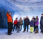 The guides at Langjökull glacier will show you through the Ice Tunnel while telling you stories all about it.
