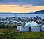 The Reykjavík landmarks Hallgrímskirkja and Perlan are an integral part of the city's visage.