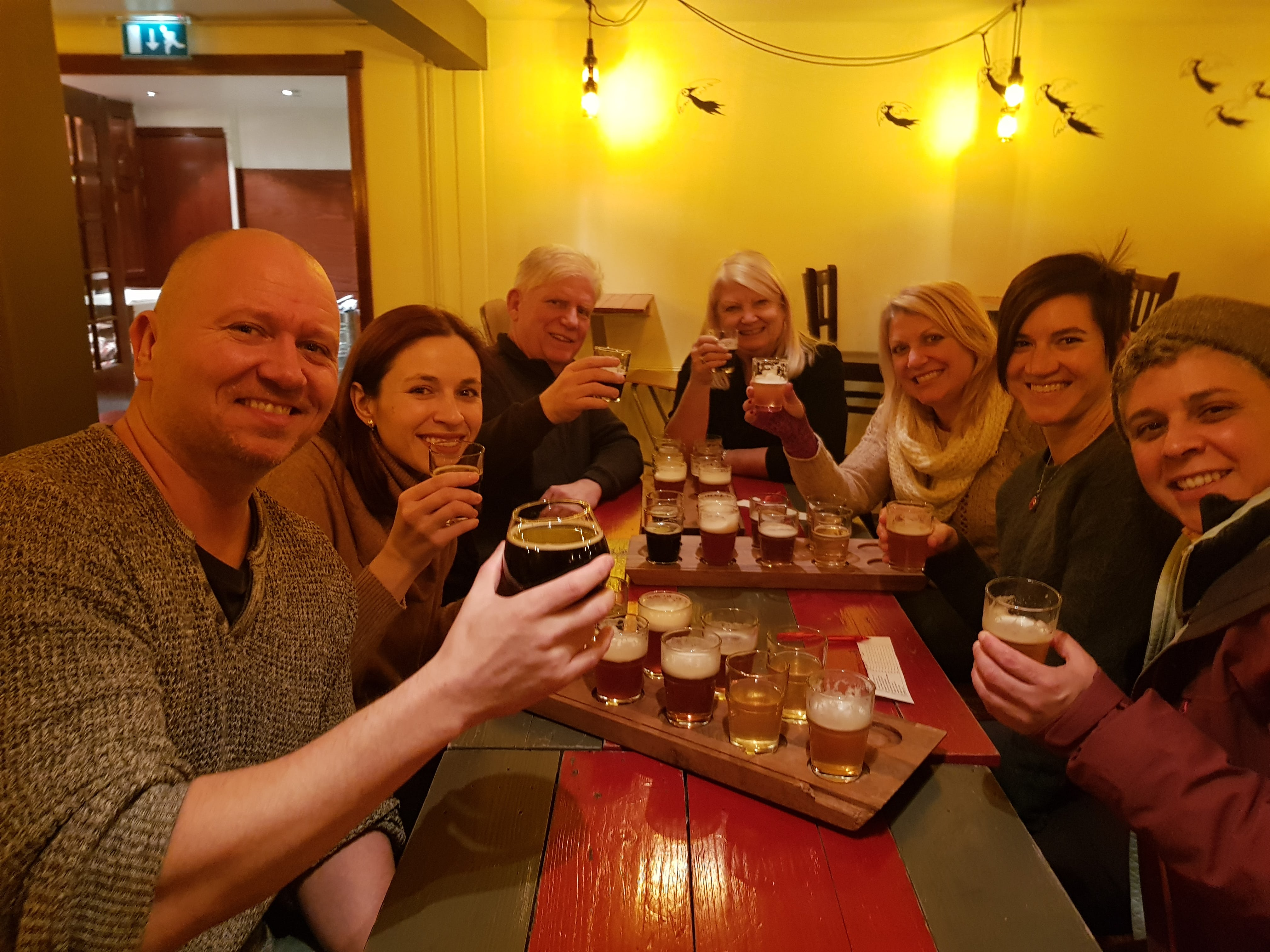 What better way is there to make new friends in Reykjavík than the beer tour.
