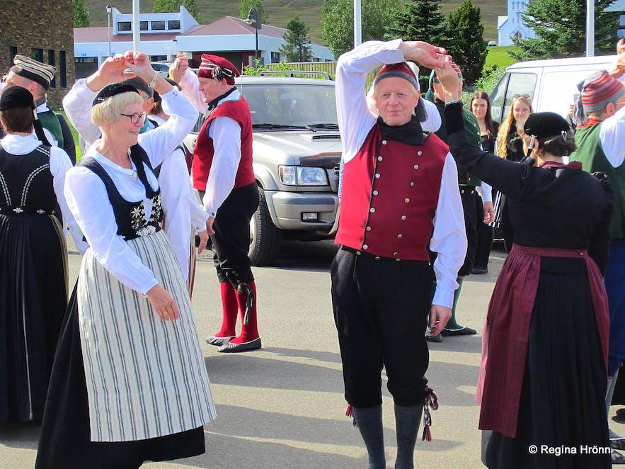 National dancing at Dalvík