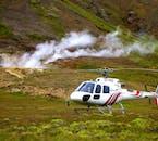 Wybierz się na wycieczkę helikopterem, która zabierze Cię na obszar geotermalny, leżący na południu Islandii.