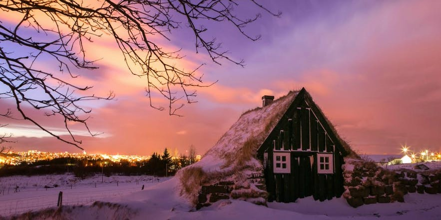 Learn about Iceland's Christmas traditions inside an authentic turf house at Árbær museum
