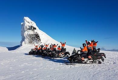 Snowmobiling on Eyjafjallajokull