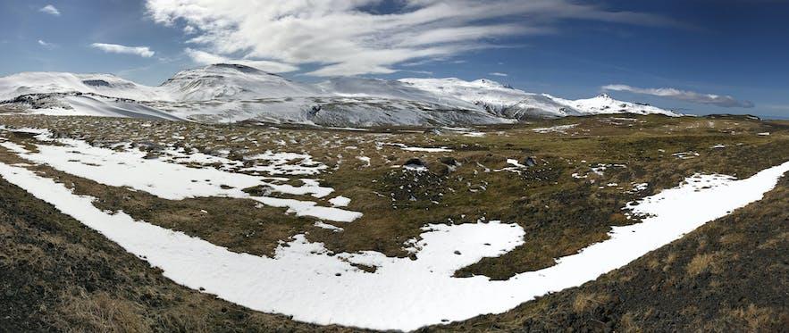 冰島斯奈山半島冰川