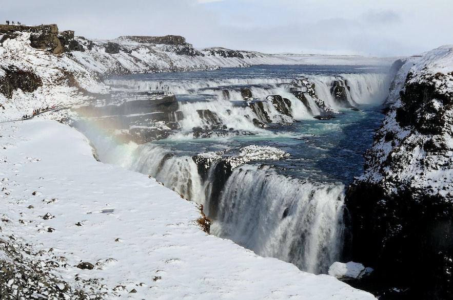 冰島冬季黃金瀑布