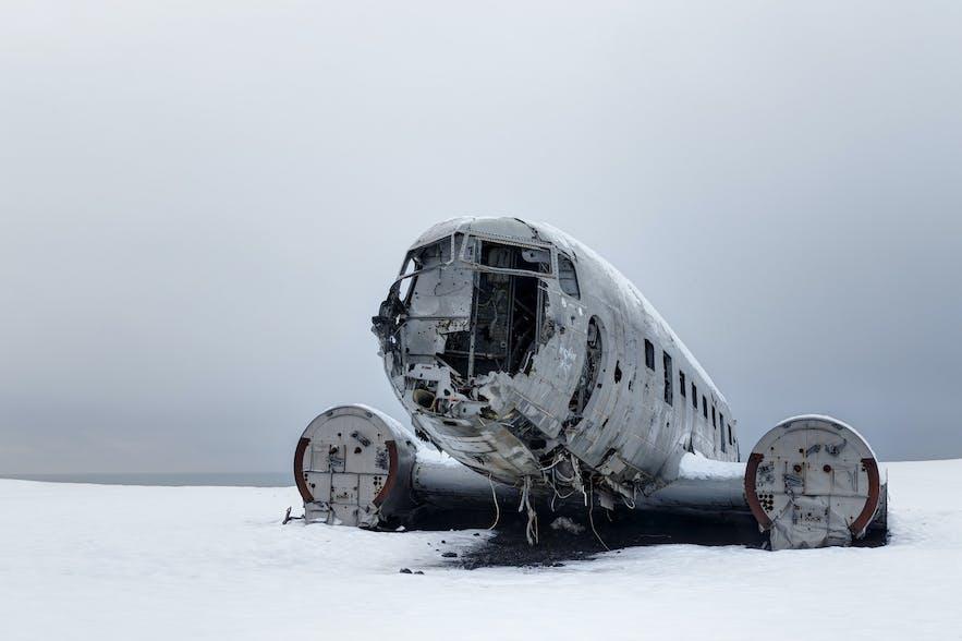 冰島飛機殘骸冬季