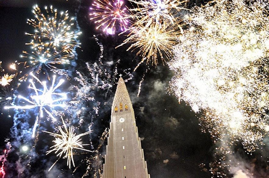 冰島聖誕除夕煙火