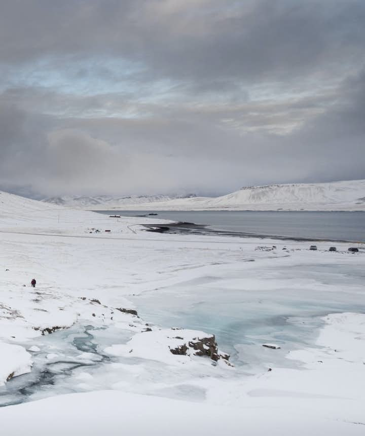 冰島冬季教堂山一月