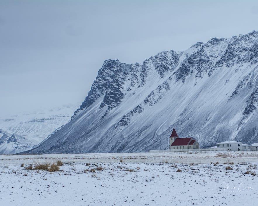 冰島冬季景色