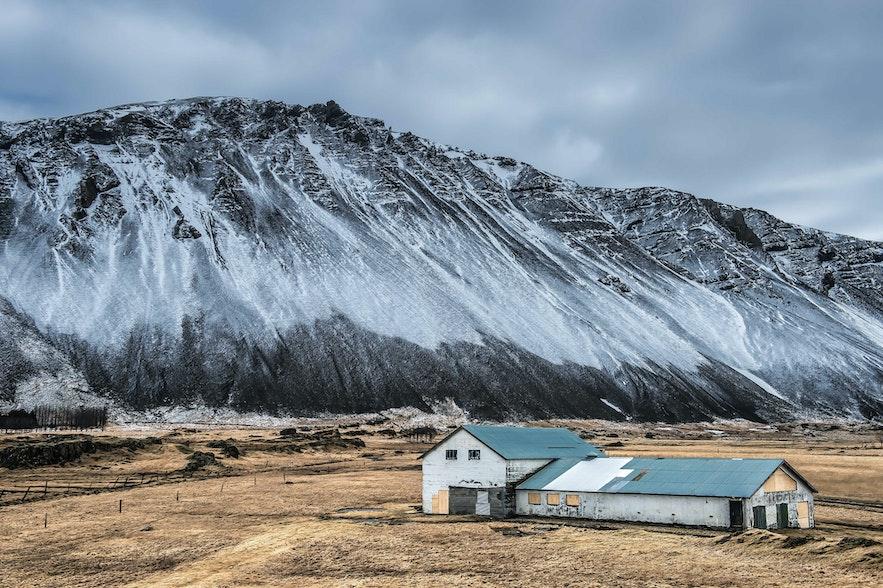 冰島三月景色