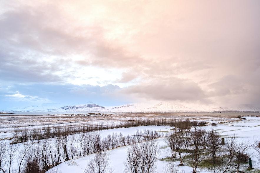 冰島三月郊外景色