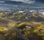 The Fjallabak nature reserve in the Highlands of Iceland is home to the glacier river Markarfljót.