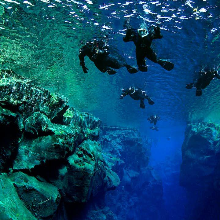 Populær snorkeltur til Silfra   Mød op på stedet