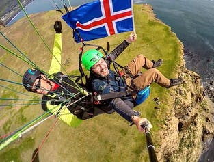 Paragliding Tandem Flight in Vik
