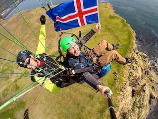 Paragliding Tandem Flight in Vik