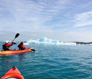 カヤック・アドベンチャー┃ヨークルスアゥルロゥン氷河湖